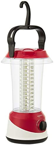 AmazonBasics Blaze 360 degree Rechargeable LED Light, Red
