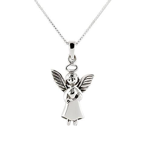 sl-silver Kit Pendentif ange enfant Coeur et collier en argent