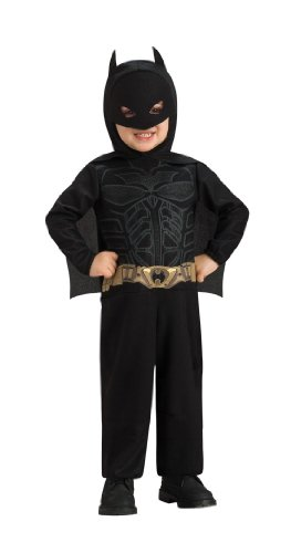 Original Lizenz Batman Kostüm für Kinder - The Dark Knight mit Umhang und Maske - 1-2 Jahre (Batman Dark Knight Kinder Kostüme)
