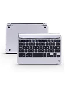 Newniu(TM) M9 Aluminum Wireless Bluetooth Keyboard Case Cover Stand for Apple iPad mini - Sliver