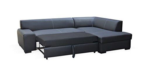 Dennis Designer Sofa mit Schlaffunktion, luxus, bequeme sofas, Schnekelmaß 260 x 175 cm, Sofabett Couchbett, Ottomane Rechts - 2