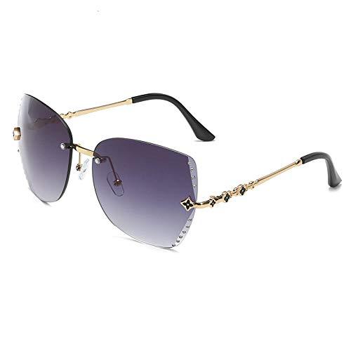 FZBK Herren und Damen SonnenbrillenNeue Sonnenbrillen_2019 new Sonnenbrillen lv cut edge diamond mirrorProgressive grey