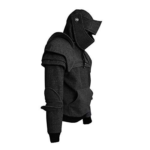 XWGlory Herren Pullover Seil Maske Ritter Hoodies Winter Warm Pullover Casual Langarm Hoodies (Mens Mittelalterliche Ritter Kostüm)