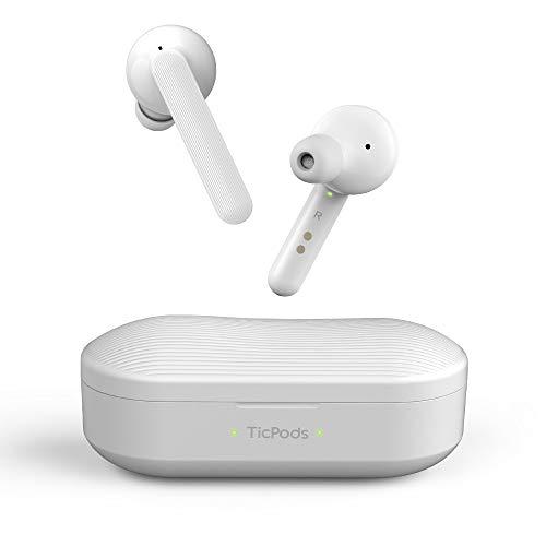 Mobvoi TicPods Free sind drahtlose Bluetooth In-Ear Ohrhörer, die einen klaren Ton auf beiden Ohren liefern. Sie sind wasserbeständig und kommen in den folgenden Farben: Ice -