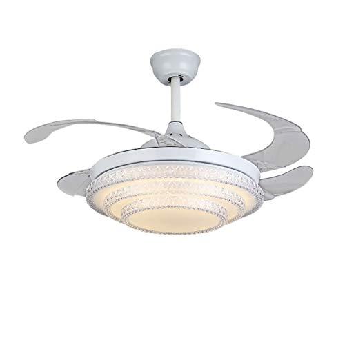 XH shop Ventilador invisible techo luz del ventilador lámpara de comedor led...