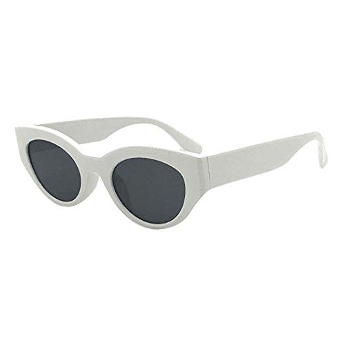TAOtTAO Retro Vintage Clut Goggles Unisex Sonnenbrille Rapper Oval Shades Grunge Brille (D)
