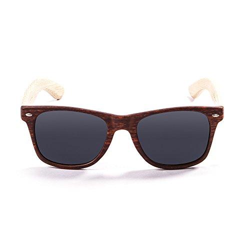 OCEAN SUNGLASSES - beach wood - lunettes de soleil en Bambou - Monture : Bambou - Verres : FumÃBlackrolle (50000.3)