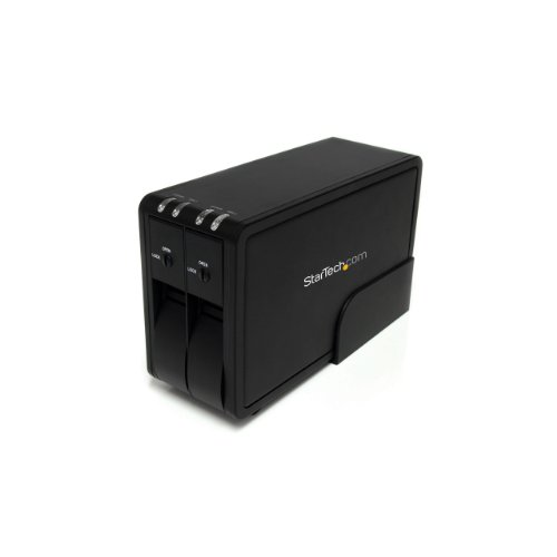 StarTech.com SuperSpeed Box Esterno USB 3.0 per 2 HDD SATA