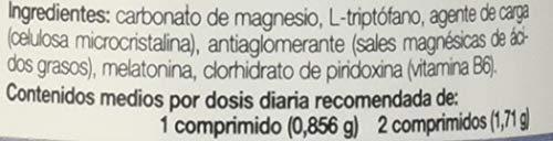 Ana Maria Lajusticia - Triptofano con melatonina + magnesio + VIT B6 - 60 comprimidos. Induce al sueño y mejora la calidad del sueño. Apto para veganos. Envase para 30 días de tratamiento.