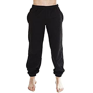 Love My Fashions Mens Fleece Jogging Bottoms - Black - Small