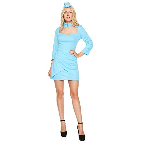 Kostüm Hostess Fancy Dress Air - Karnival 81358 Kostüm, Women, blau, X-Small