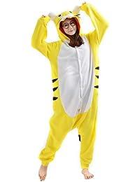 Unisex Animal Pijama Ropa de Dormir Cosplay Kigurumi Onesie Tigre Disfraz para Adulto Entre 1,