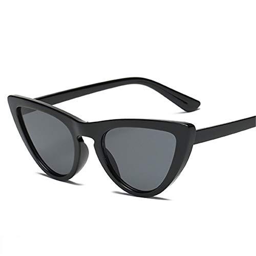 MOJINGYAN Sonnenbrillen,Retro Cat's Eye Männer Frauen Sonnenbrille Catseye Style Sun Slasses Damen Brillen Uv400 Brille Schwarz