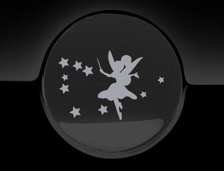 Fairy Magic Tankdeckel-Aufkleber, Silber