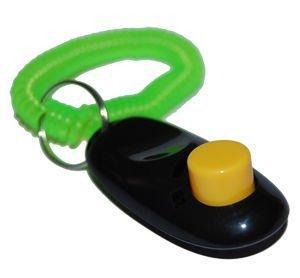 Artikelbild: Big Button Clicker mit Handgelenk Band für Clicker Training–Klicken Sie und Zug Hund, Katze, Pferd, Haustiere