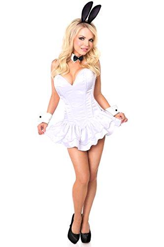Daisy Corsets, Damen-Kostüm, mit Schublade, unschuldiges Hasen-Kostüm - Weiß - - Sexy White Bunny Kostüm