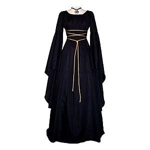 CVERY Vestido medieval para mujer,