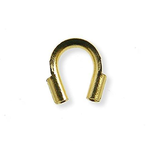 5x 4mm wire guardian–placcato oro–50pk