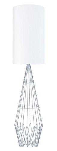 Tosel 51246 Lampadaire 1 Lumière, Acier, E27, 40 W, d'or, 30 x 165 cm