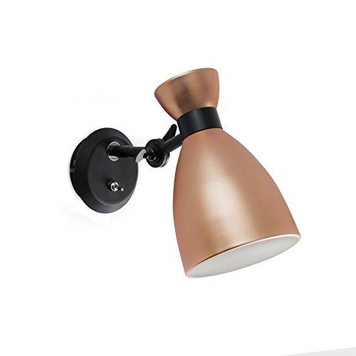Llega la versión cobre! RETRO es una serie de lámparas de diseño de Alex & Manel Lluscà inspiradas en los años 60', con los que podrá iluminar diferentes ambientes de su hogar. La fuente lumínica del aplique cobre es una bombilla E14 MAX 20W no i...