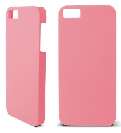 Ksix Coque en caoutchouc rigide pour iPhone 5–Blanc rose