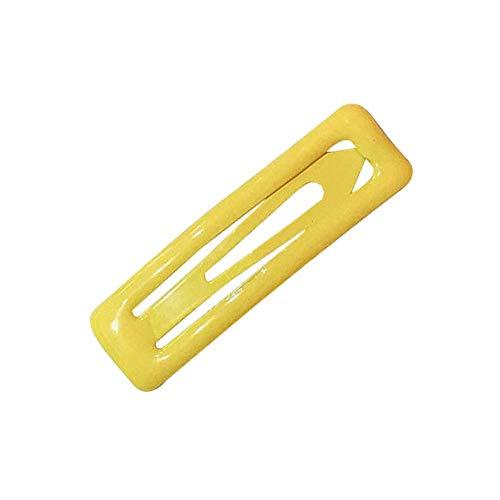 QINCH Home Mode Mädchen Bonbonfarbe farbige Bunte Haarnadel Snap Haarspange kurvenreiche Haarspange Bobby Pin Fringe Clip -
