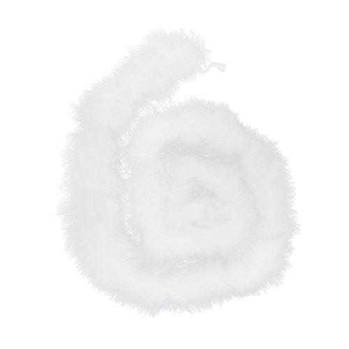 Handwerk Schmuck Kostüm - Sharplace 2 Meter Feder Streifen Flauschig Für Handwerk Kostüm Hochzeit - Weiß