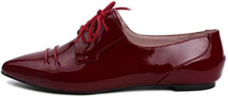 Donna Appuntito PU Fondo Piatto Scarpe Scarpe Scarpe Singole Moda Allacciatura Scarpe Casual Abito Da Sposa Scarpe Da Viaggio | Qualità E Quantità Garantita  c6281f