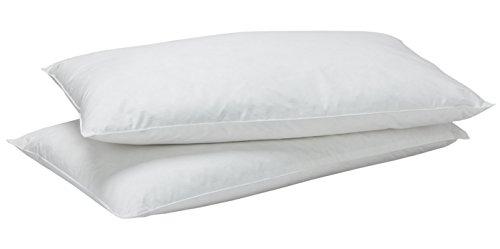 Pikolin Home – Pack de 2 oreillers en duvet 50%, taie 100% coton, confort souple, 50x80cm, épaisseur 12cm