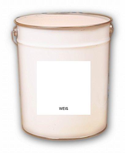 20 Liter weiss Reinweiss Acryl Dachfarbe Dachanstrich Ziegelfarbe Dachbeschichtung Metalldach Blechdach Acrylat Basis