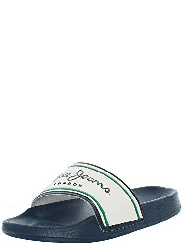 Pepe Jeans Slider Basic PMS70068 Blanco, 45 EU