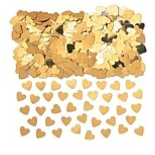 Gold wedding decorations amazon 14g gold sparkle hearts table confetti fab gold heart wedding anniversary decoration table confetti x 14g pack junglespirit Gallery
