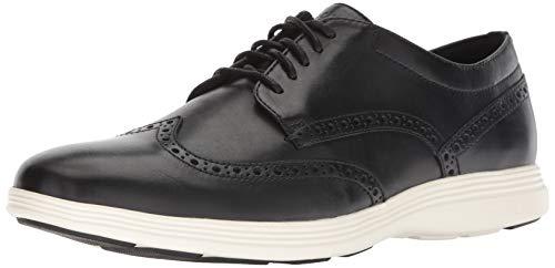 Cole Haan Herren Grand Tour Wingtip Oxford Sneaker, Schwarz Black Leather/Ivory, 41.5 EU (Oxford Wingtip Schwarz)