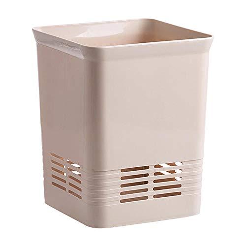 er Badezimmer Square Papierkorb Küche ohne Deckel Garbage Schlafzimmer Wohnzimmer Schlafzimmer Beige Kunststoff Papierkorb ()