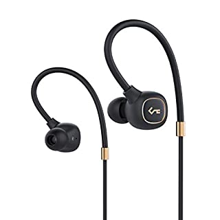 AUKEY Bluetooth Headphones, Key Series Bluetooth 5 Earphones with Hybrid Driver, aptX Low Latency, High Fidelity Sound, IPX6 Water-Resistance, Built in Mic, and 8-Hour Battery Life