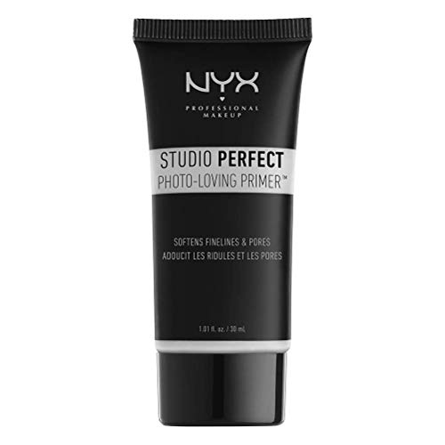 NYX Professional Makeup Studio Perfect Primer, Clear, Makeup Primer, Ebenmäßiger Teint, Vermindert feine Linien und Poren, Vegane Formel