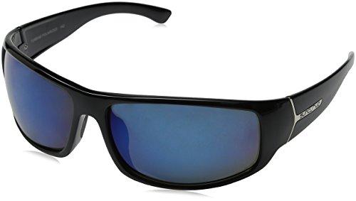 Suncloud Turbine Polarized Sunglasses, Black Frame, Blue Lens