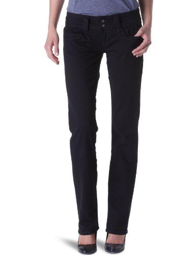 Pepe Jeans Damen Venus Hose, Schwarz (Black), W24 (Herstellergröße: 24) - Five-pocket-zip-fly Jeans