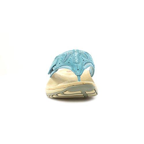 Earth Spirit pour Femme en Cuir Bleu Sportive orteil Post Bleu - bleu