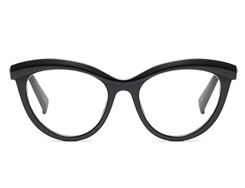 Bmeigo Damen Oval Frame Klare Linse Plain Brille Mode ohne stärke Brillen