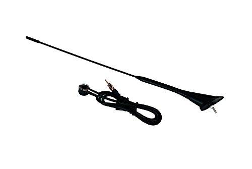 INION® Dachantenne 40cm mit Antennenfuss + Kabel (1,20m) Universal Fahrzeugantenne Autoantenne Stabantenne Radioantenne