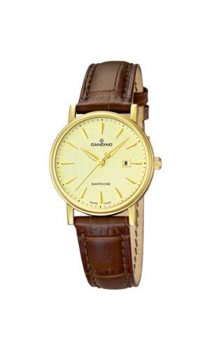 Candino Damen-Armbanduhr XS Analog Quarz Leder C4490/3