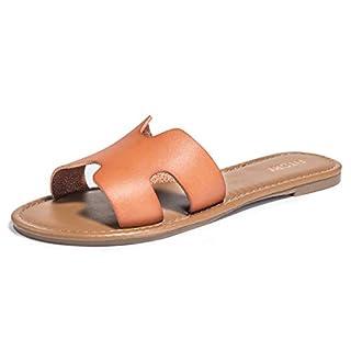 Damen Flach Elegant Sandalen Peeptoe Sommer Schuhe Gr. 36-41