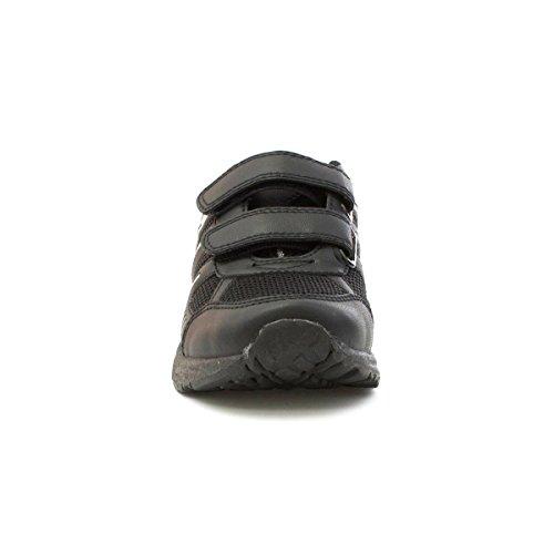 Tick Trainingsschuhe für Kinder, Schwarz, Mesh, mit Doppel-Klettverschluss Schwarz