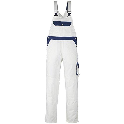 Mascot Monza Bib und Brace Latzhose 90C56, weiß / marine, 00962-630-61