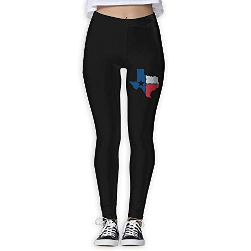 Deglogse Pantaloni da Yoga, Leggings da Allenamento,Distressed Texas Flag Womens High Waistband Power Flex Yoga Trousers Skinny Trousers