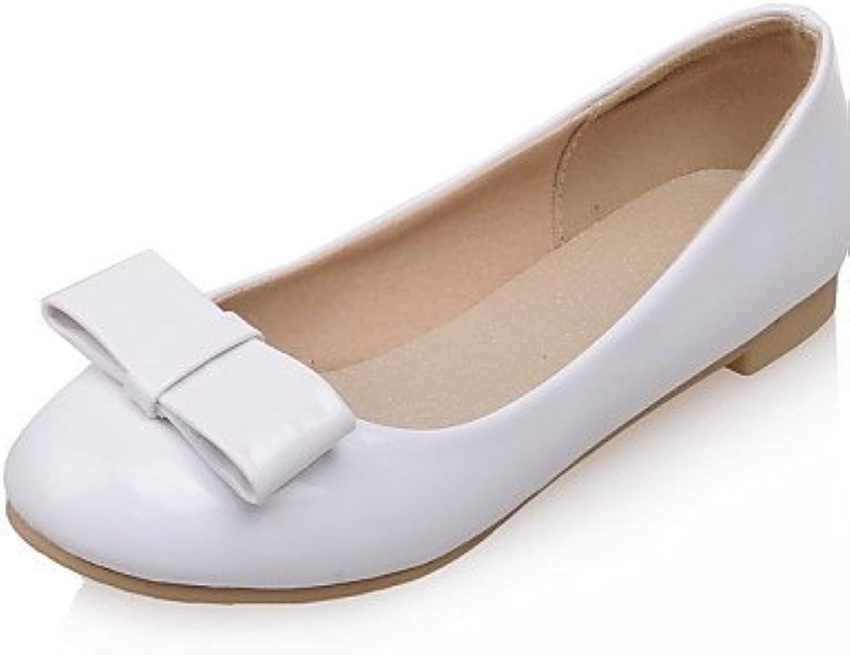 PDX/Damen Schuhe flach Ferse Komfort/rund Wohnungen Hochzeit/Outdoor/Kleid/Casual Schwarz/Rot/Weiß