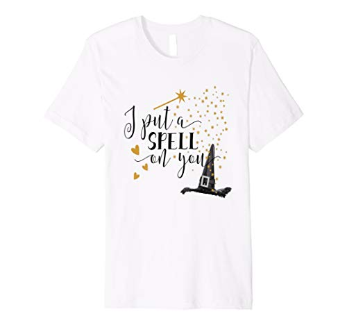 Halloween Shirt Funny Hexe I Put A Spell On You Love Hearts