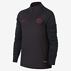 Nike PSG Y NK Dry Strke Dril Top Long Sleeve, Unisexe pour Enfant L Gris/Rouge (Oil Grey/Oil Grey/University Red)