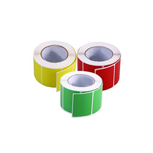 STOBOK 3 rollos color puro etiquetas transferencia